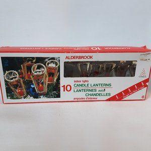 Vintage Alderbrook Candle Lantern Mini Light Set